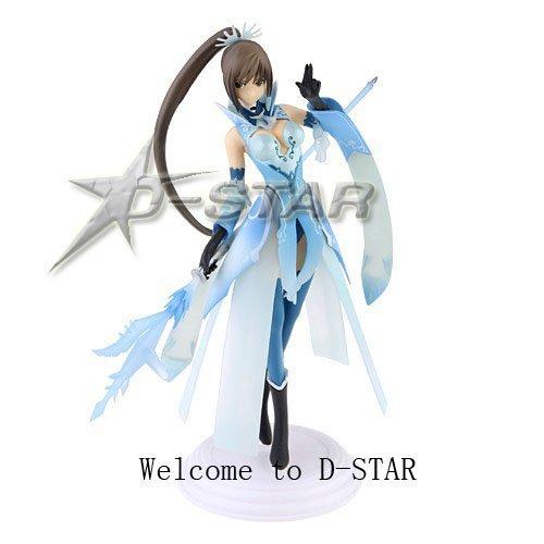 "Free Shipping Beatiful 9"" Shining Heart Blade Sakuya-Mode Cerulean Blue Maxima 1/8 Scale PVC Action Figure Model"