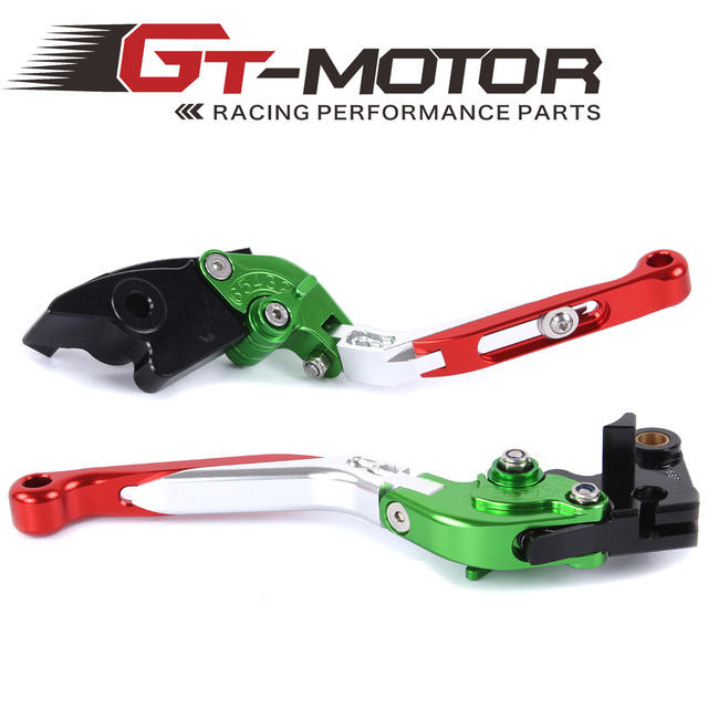 GT Motor - F-29  Y-688H Adjustable CNC 3D Extendable Folding Brake Clutch Levers  For HONDA CBR600RR 2003-2006  CBR954RR 2002-03
