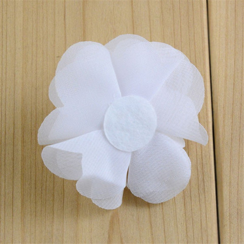 120pcs/lot 2.56Inch Layered Chiffon Fabric Flower Hair Flowers DIY Bridal Weddings Girls Accessories 25 Color U Choose MH88 Multan