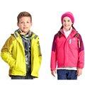 2016 New Winter Boys Girls Climbing Jackets Kids Outdoor Hooded Coats 6-12Y Children's Active Outwear Waterproof Windproof SC637