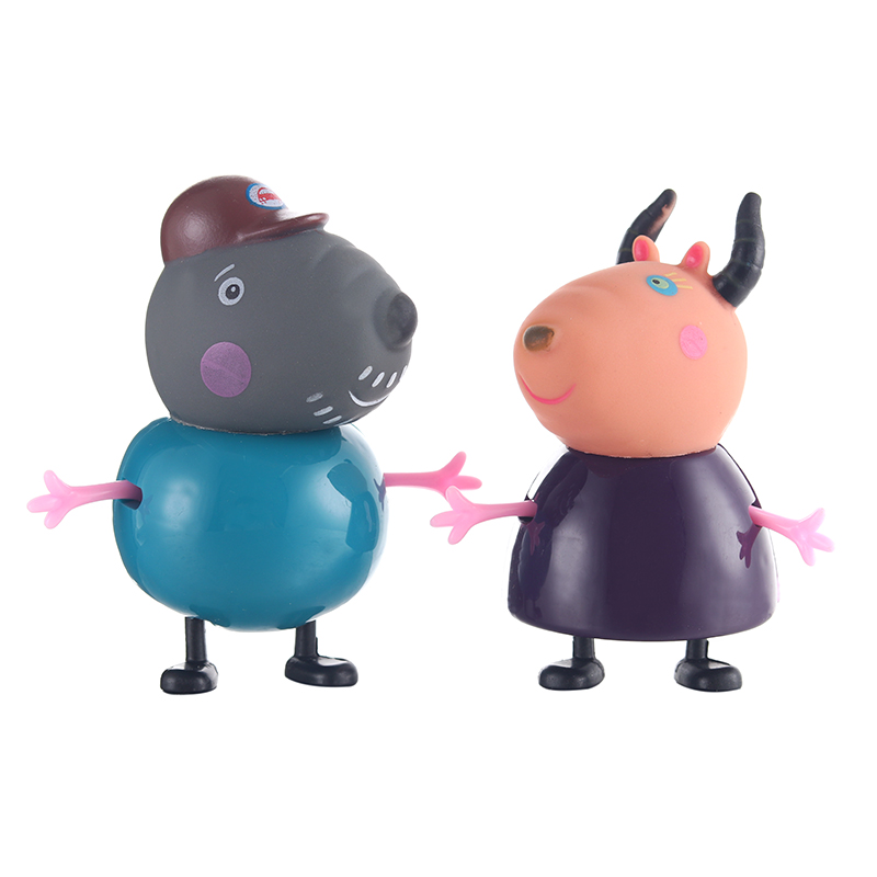 Original hot sale Peppa pig friend Family Pack Dad Mom Action Figure Toys gift set Child birthday present in Action Toy Figures from Toys Hobbies