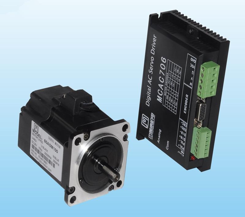 все цены на  100W 36VDC 0.32N.m NEMA24 Economical AC servo motor driver kit 1250 line 3000rpm JMC 60ASM100+MCAC706  онлайн