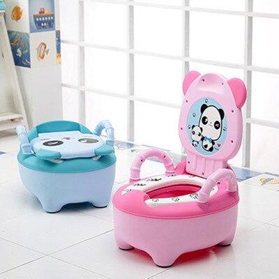 Arrival Baby Potty Toilet Bowl Cute Cartoon Training Pan Toilet Seat Children Bedpan Portable Urinal Comfortable Backrest Pot