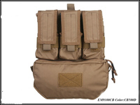 Emersongear Assault Back Panel Pack 500D Cordura Coyote Brown Military Pouches MOLLE Pack FOR Outdoor Hunting