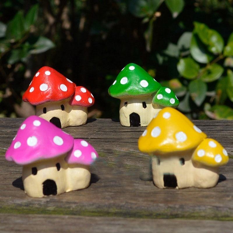 lindo dollhouse miniatura diy macetas decoracin casa oficina graden casa de setas planta en maceta