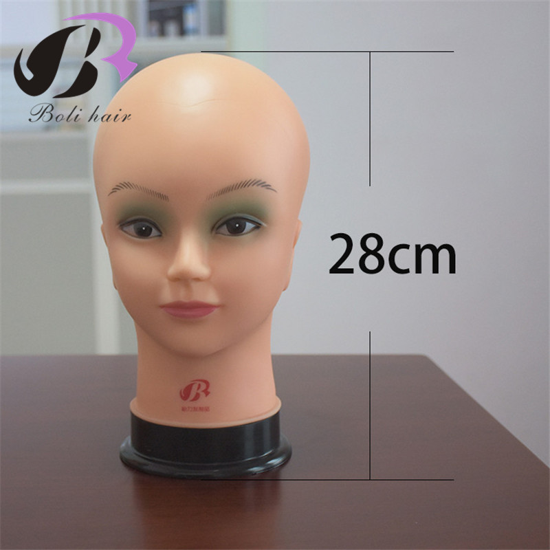Adaptable High Grade Soft Dolls Head Bald Manikin Head For Wig Making Hat Display Maniquin Head Wig Holder Mannequin Head With Shoulder Wig Stands