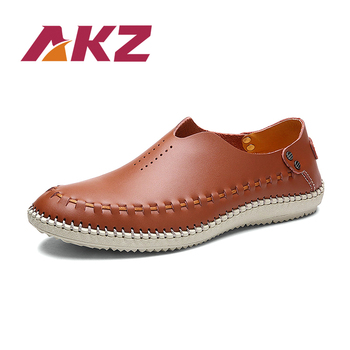 AKZ Summer Man loafers Air mesh Men Casual shoes Breathable Comfortable Light shoes for men big size Male Flats shoes Slip on