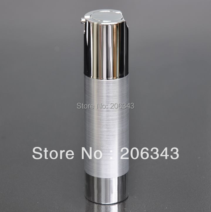 50ml UV  silver  airless vacuum pump lotion bottle with silver pump and bottom base  used for Cosmetic Container-in Refillable Bottles from Beauty & Health