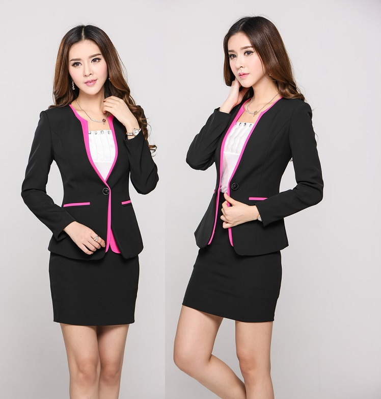 New 2015 autumn winter uniform office work wear suits with for Office uniform design 2014