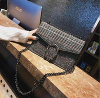 2018 New Houndstooth Chain Lady Flap Women Shoulder Bag 2052 Fashion Woman Crossbody Bag Christmas Gift