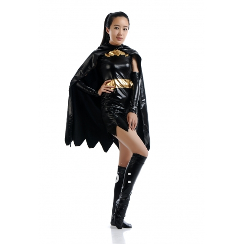 Batman DC Comics Super heroine Batgirl Metallic Superhero Costume Halloween Costumes