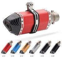 51 ミリメートルユニバーサルオートバイの排気管マフラー Akrapovic エスケープモトと db のキラーのため honda CB400 fz1 r6 cb1000r r15 cbr650f