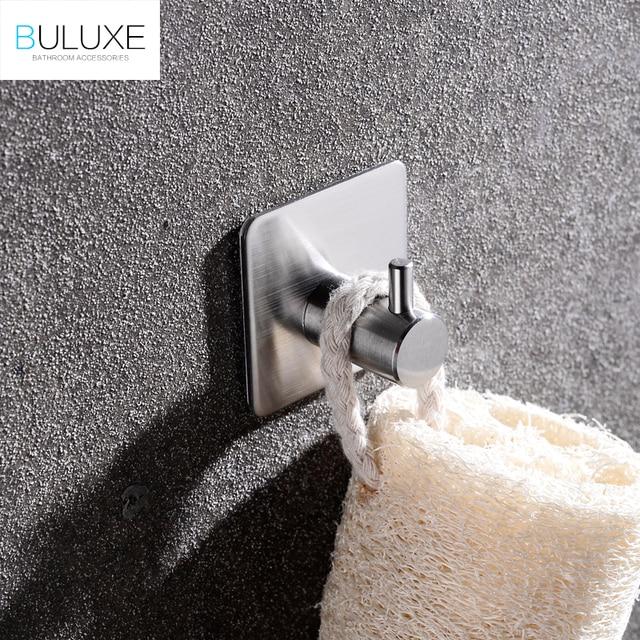 Buluxe Badkamer Toilet Zelfklevende Gewaad Haak 1 Haken Geborsteld