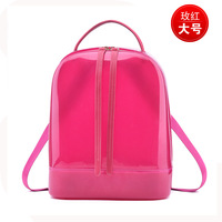8280 New Fashion Women Spring and Summer Beach Bag Women Backpack Candy Colored Crystal Jelly Bag