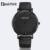 Geekthink top de luxo da marca relógio de quartzo dos homens casuais preto relógio de quartzo-relógio negócio couro genuíno ultra fino masculino 2017 novo