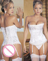 Sexy Over Bustier Summer Bedtime Women Ladies Fashion Elegant Summer Lace HOT White/BLACK Stunning Corset LC0254