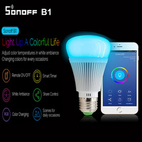 Sonoff B1 Smart Wifi Lamp E27 Dimmable Colorful LED Lamp RGB Color Light APP WIFI Remote
