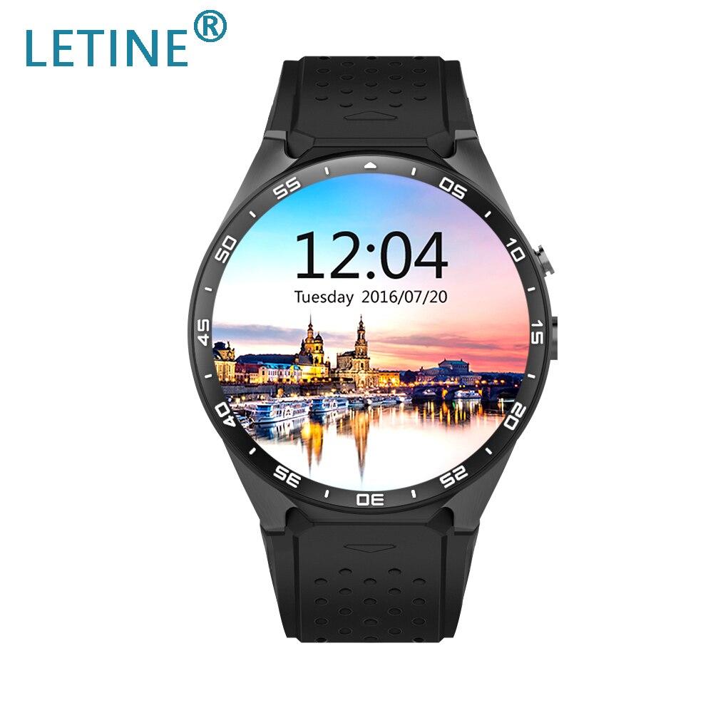 Letine Kingwear KW88 montres intelligentes 3G femmes hommes montre-bracelet Android horloge téléphone portable avec carte Sim fonction caméra