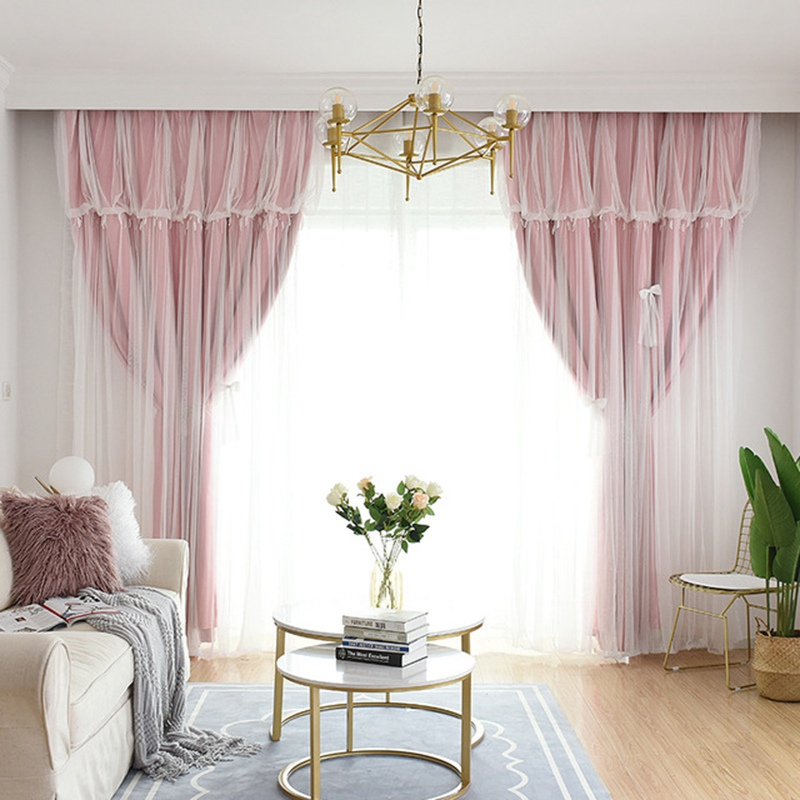 Modern Window Curtain High Shading Drapes Solid-color Window Curtain with Screening Elegant Bedroom Decor Home Supplies(China)