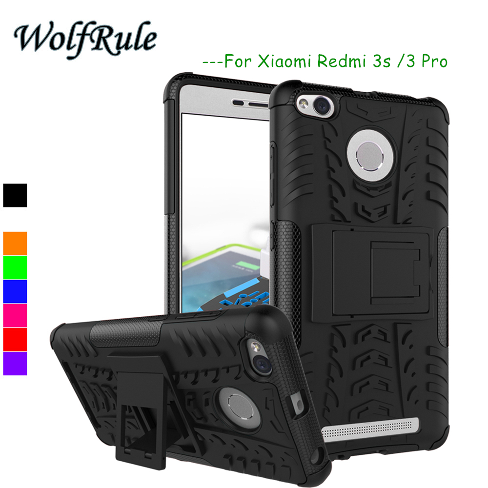 WolfRule Case Xiaomi Redmi 3s Cover ShockProof TPU + PC Phone Holder Case For Xiaomi Redmi 3s Case For Xiaomi Redmi 3 Pro <WolfRule Case Xiaomi Redmi 3s Cover ShockProof TPU + PC Phone Holder Case For Xiaomi Redmi 3s Case For Xiaomi Redmi 3 Pro <