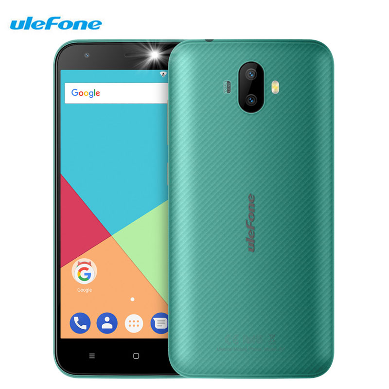 Ulefone S7 5.0 Inch Smartphone 1GB RAM 8GB ROM Dual Rear Cameras Android 7.0 Quad Core MTK6580A Dual SIM Cards 8MP 3G Cellphones