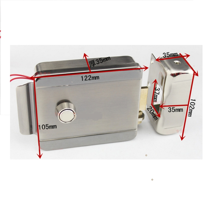 Home Stainless Steel Electronic Door Lock for Video Doorphone Intercom,security door lock access control electric lock digital electric best rfid hotel electronic door lock for flat apartment