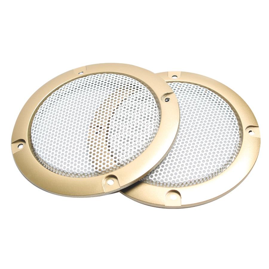 "2 Pcs 2/"" inch Black Audio Speaker Cover Decorative Circle Metal Mesh Grille TCVG"