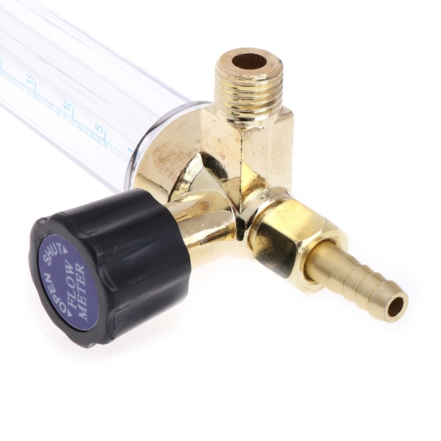 1/4PT резьба 7 мм Барб аргон Ar CO2 газовый расходомер Ar сварочный регулятор 0,35 МПа