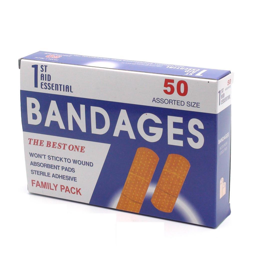 50pcs/Box Breathable Anti-bacteria Bandage Sticker Brown Adhesive Wound Bandages Healing pathophysiology of wound healing