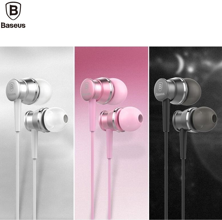BASEUS Brand Lark Series Pure & HiFi Earphone 3.5mm Wired Amazing Smart Mini Earphones For iPhone/Samsung Universal Cell Phone get smart our amazing brain