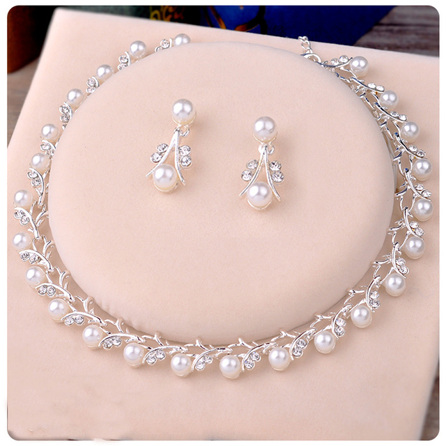 Bridal Necklace Pearl Korean Princess Perform White Accessory Sweet Beautiful Wo