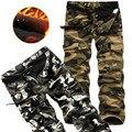 2016 новый зимний высокое качество мужская Брюк вельвет комбинезоны камуфляжные штаны длинные брюки мужчин Военные Брюки-Карго