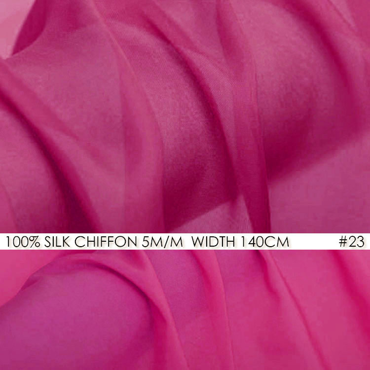 White Silk Chiffon Fabric 6momme Width 55 140cm 100 Natural Silk