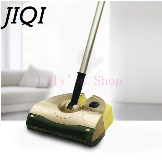 JIQI Handheld drag Cordless electric sweeper rechargeable mopping robot vacuum cleaner sweeping mop cleaning broom 110V 220V EU  w s018 2 in 1 swivel cordless electric robot cleaner