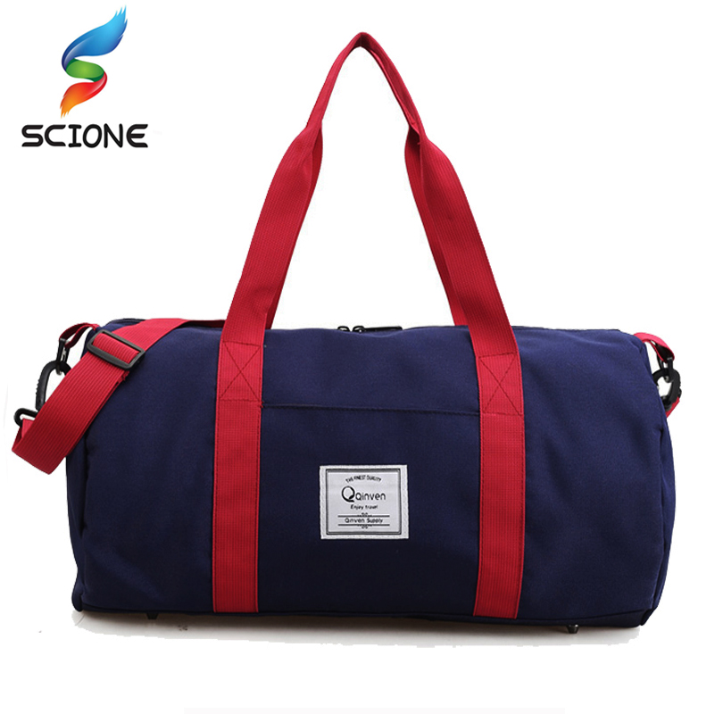 2018 Top Quality Fitness Gym Sport Bags Men and Women Waterproof Sports Handbag Outdoor Travel Camping Multi-function Bag outdoor washed canvas sport gym bags multi function handbag single shoulder bag men travel independent shoes duffle bags