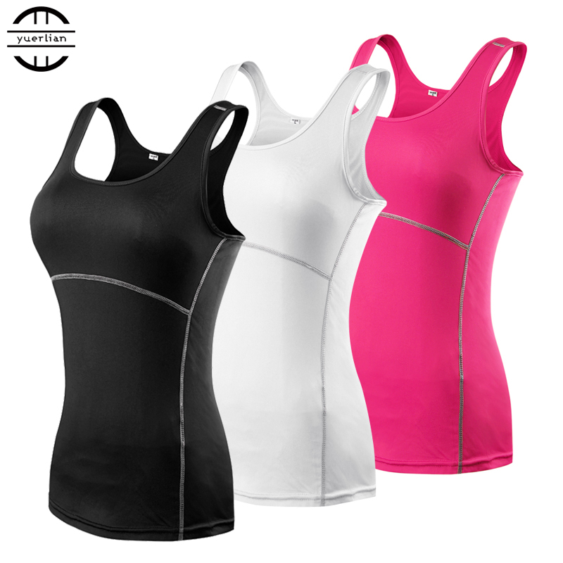 New Yoga Tops Women  Gym Sportswear Vest Fitness tight woman clothing Sleeveless Running shirt Quick Dry White Yoga Tank Top