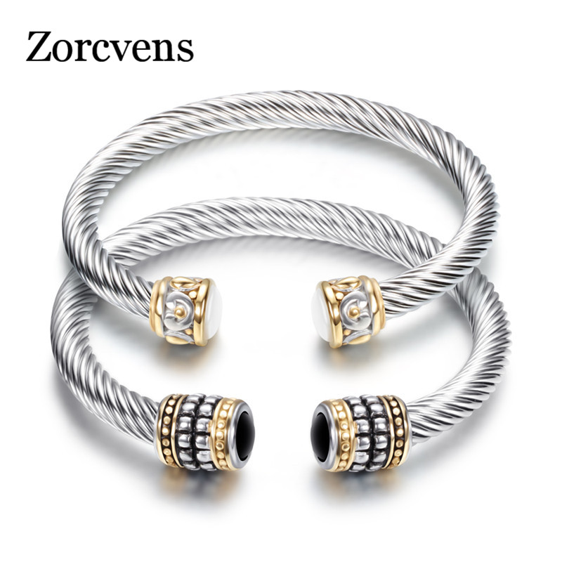 ZORCVENS Multi Twisted Cable Wire Bangle Vintage Unique