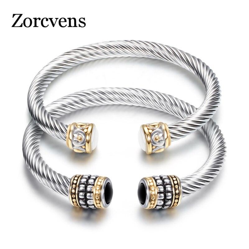 ZORCVENS Bracelet Multi Twisted Cable Wire Bangle Vintage Fashion Bangles Unique Designer Brand Christmas Cuff Bracelet bangle