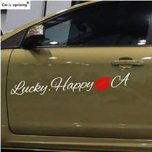Lucky happy Red lips Car Stickers for Acura ILX RDX MDX RL TL TSX ZDX MDX Car Styling(China)