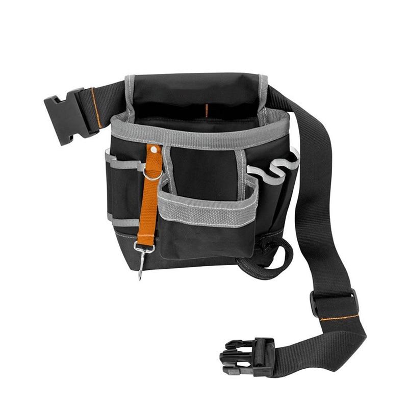600D Oxford Tool Bag Belt Waist Bag Pouch Waist Pocket Outdoor Work Hand Tools Hardware Storage Electrician Gardening Tool