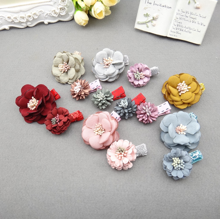 Korea Princess Hair Clips Girls Hair Accessories Flower Crown Hair Bows Hair Ornaments Rim Hairpin Kids Gift -5