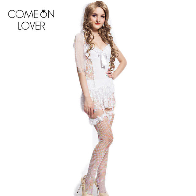 CE88058 Comeonlover Top selling lenceria sexy new fashion lace sexy white dress special design women sexy plus size lingerie