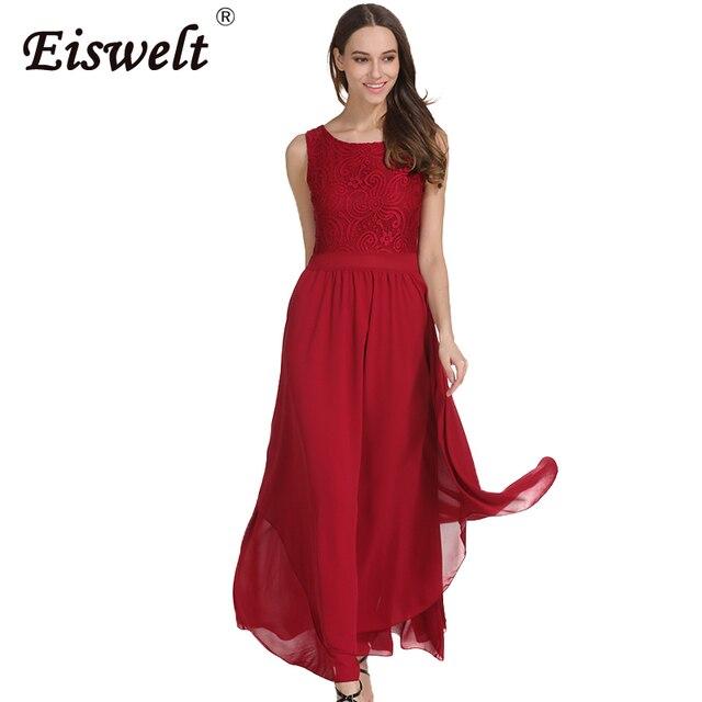 14f59ace2e20 Lato Sexy Kobiety Sukienka Koronka Czerwona Szyfonowa Długa Sukienka Maxi  Multiway Vintage Suknie Cabrio Wrap Sukienek