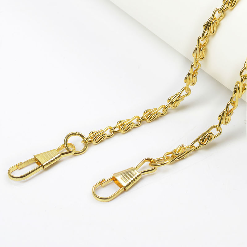 10pcs 120cm DIY Replacement Long Metal Bag Chain Strap Purse Handles For Handbag Bags Accessories Soulder Straps Chain 4 Colors