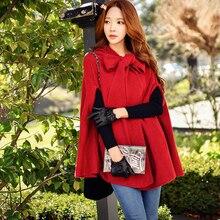 original knitted coat female 2017 women s autumn winter new korean fashion temperament bow hooded sweater