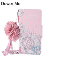 Dower Me Fashion Retro Rose Fiore di Cuoio di Vibrazione Del Raccoglitore Della Borsa Copertura Della Cassa Catena con Pendente Per Iphone X 8 7 6 6 S Plus 5 SE 5 S