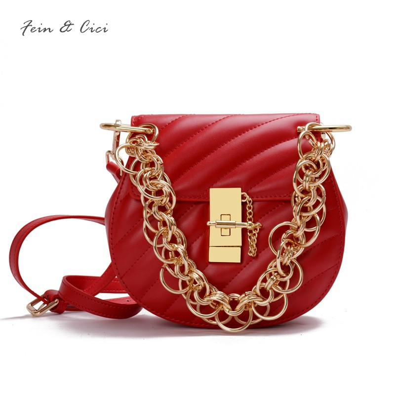 red bag really genuine cow leather totes handbag women large gold chains circle party crossbody bags circular bao bao wine black genuine leather circle bag women patchwork messenger bag brand cowskin bao bao party handbag high quality red brown green