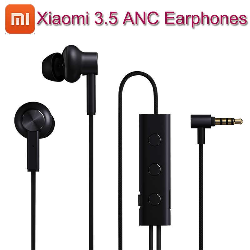 2018 NEW Xiaomi 3.5 ANC Earphones Hybrid 3 Unit 2 Grade Noise Cancel 6 Serie Al-Alloy Braid Wire Metal Clamp L Plug Hi-Res