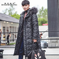 Marton Men Down Coat Raccoon Dog Fur Collar Camouflage Winter Hooded Down Jacket Warm Thick Fur Coat Plus Size Male Jacket