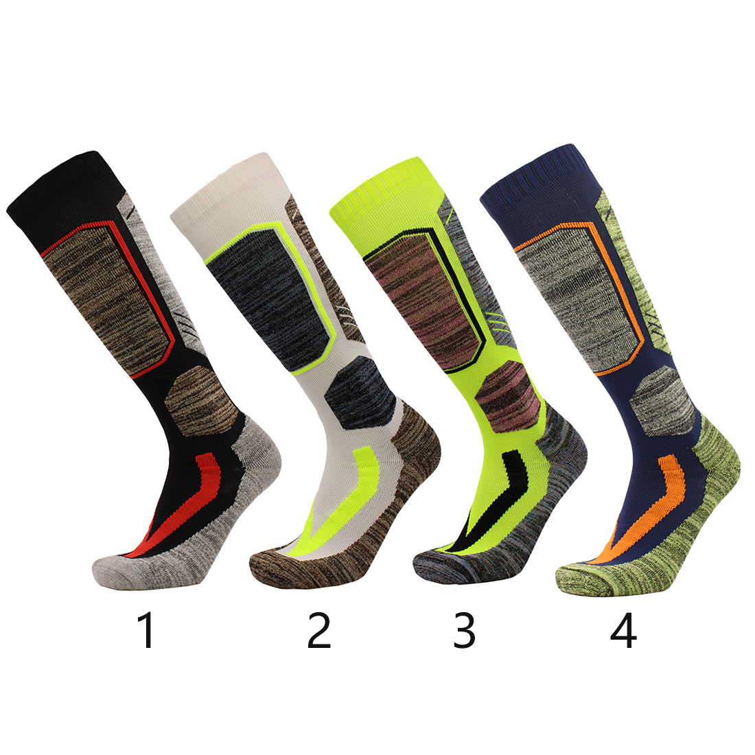 1 Pair Winter Warm Men Women Thermal Long Ski Socks Thicker Cotton Sports Snowboard Camping Hiking Climbing Socks fiets kousen